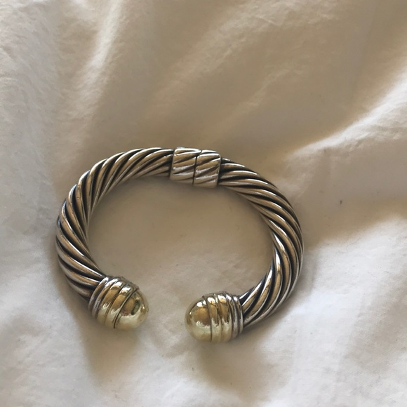 bda4867d9ff1bd David Yurman Jewelry | 10mm Cable Classics Bracelet W Gold | Poshmark
